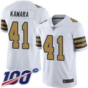 Saints Alvin Kamara 100th Season Jersey 3